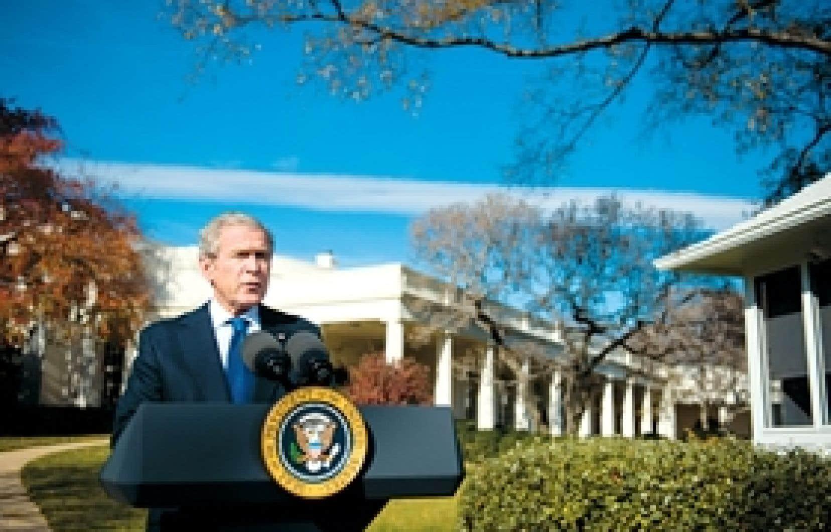 «Les chiffres de l'emploi publiés aujourd'hui reflètent le fait que notre économie est en récession», a déclaré hier le président Bush.