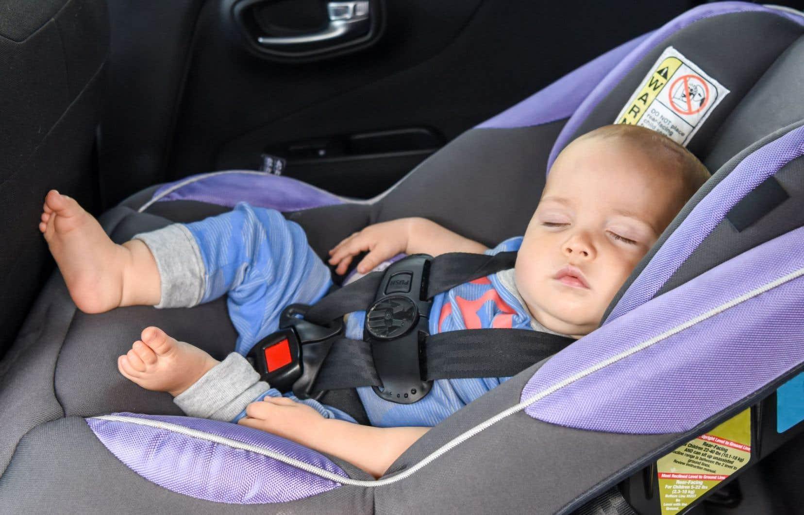 60 % des enfants ne sont toujours pas attachés de façon optimale en voiture.