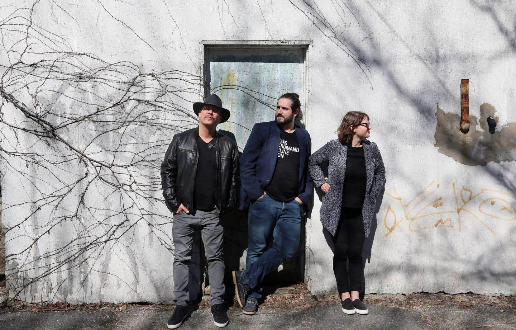 La nouvelle équipe: Alexandre Vanasse, éditeur, Jérémy Laniel, coordonnateur éditorial, et Annabelle Moreau, rédactrice en chef