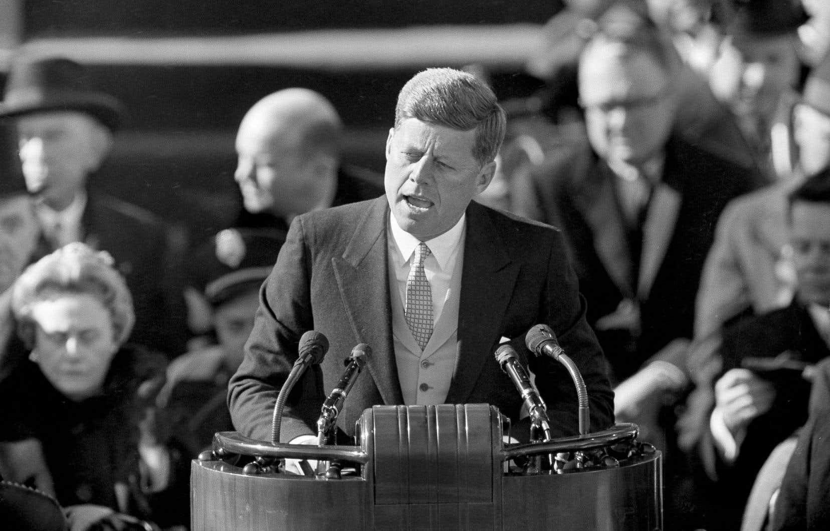 John F. Kennedy a livré son discours inaugural le 20 janvier 1961 au Capitole, à Washington.