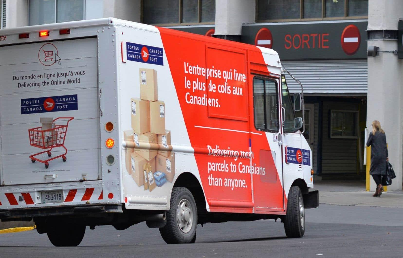Les bénéfices de Postes Canada ont grimpé en 2017.