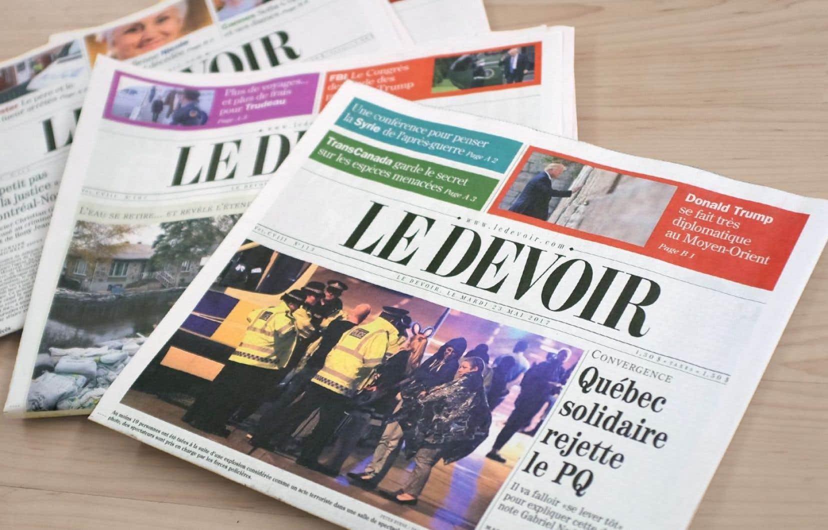 """«L'indépendance du """"Devoir"""" est sa marque distinctive», rappelle sa rédactrice en chef, Luce Julien."""