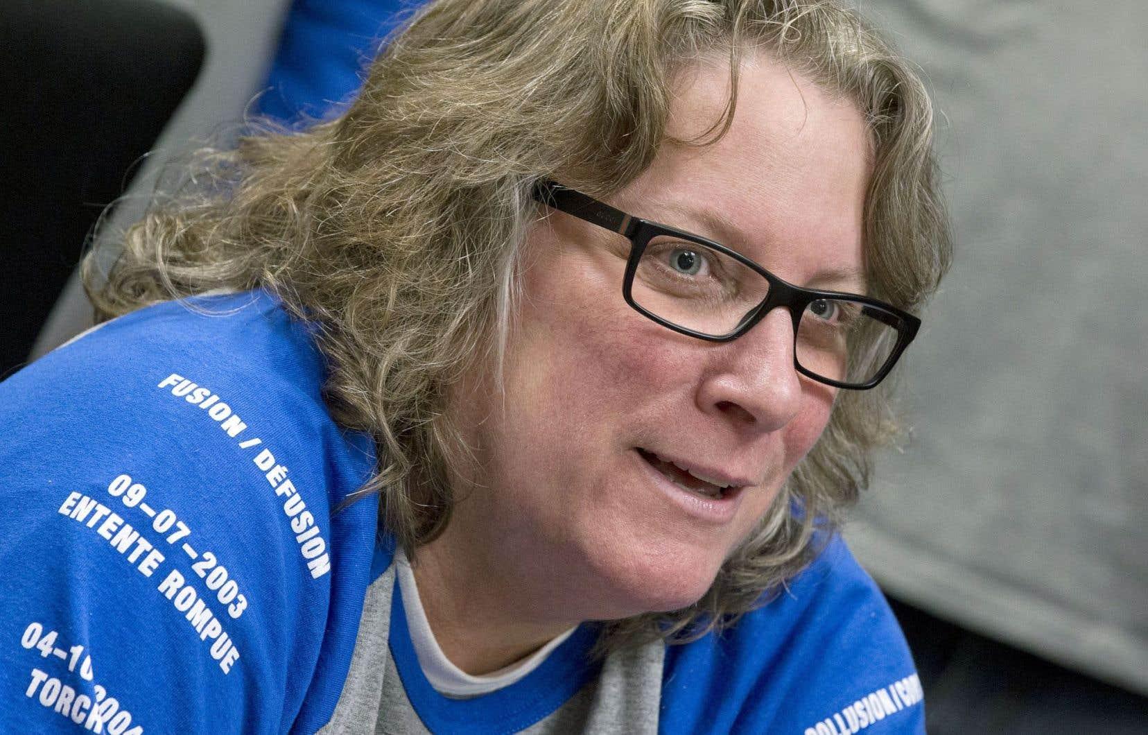 Chantal Racette, présidente du syndicat des cols bleus de Montréal
