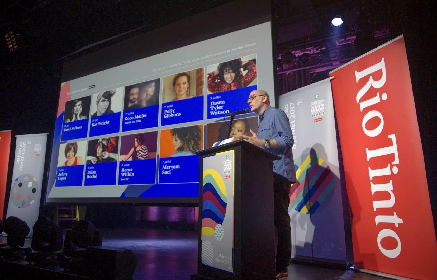 3000 musiciens, plus de 500 spectacles, ça parle! Le grand manitou de la programmation du Festival international de jazz de Montréal, Laurent Saulnier, a dévoilé les noms des affiches mardi.