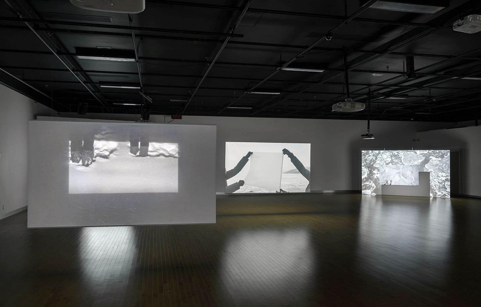 Vue sur «Géographies: recomposées» à la Maison des arts de Laval