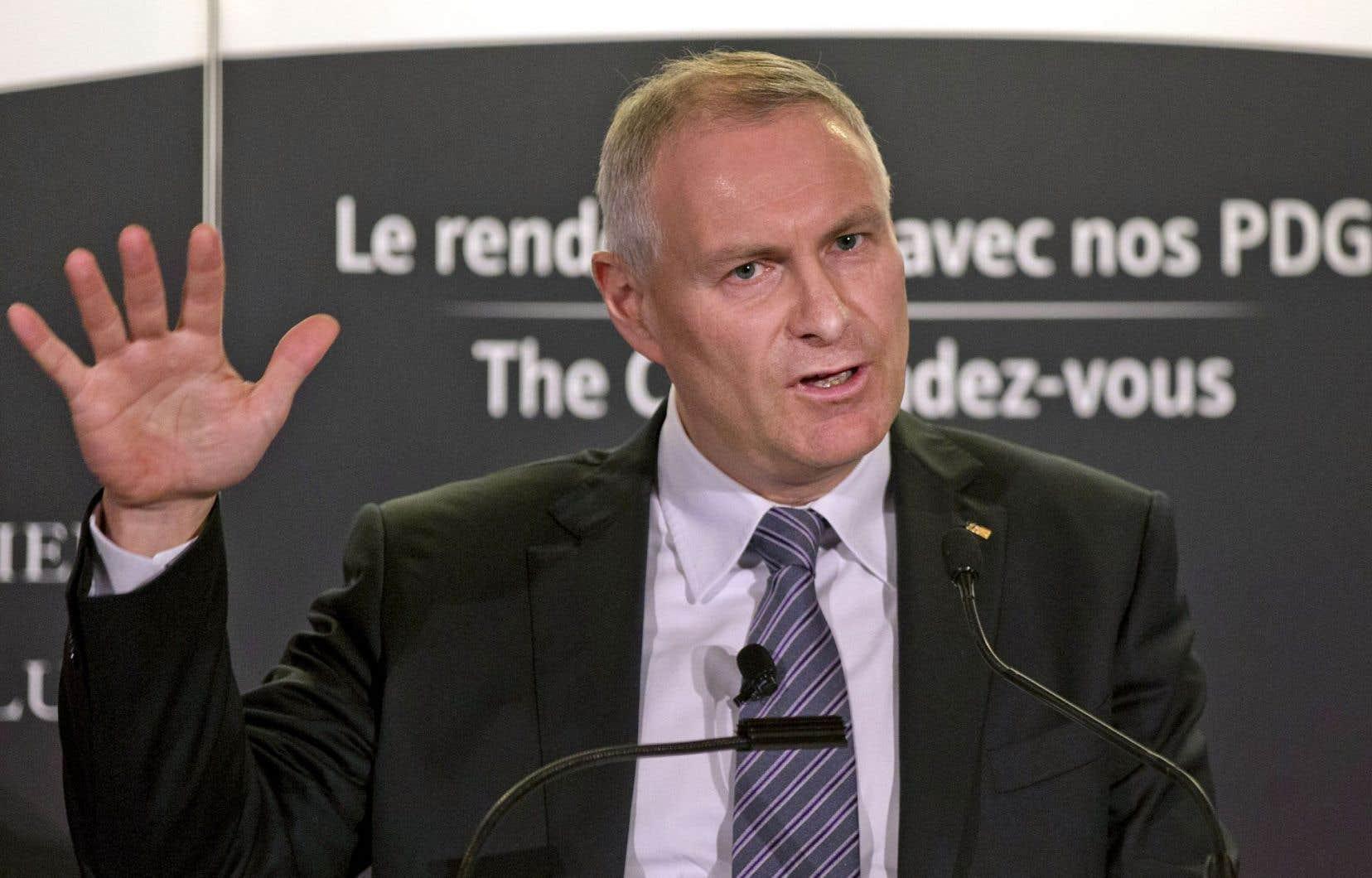 Le président et chef de la direction de Transcontinental, François Olivier