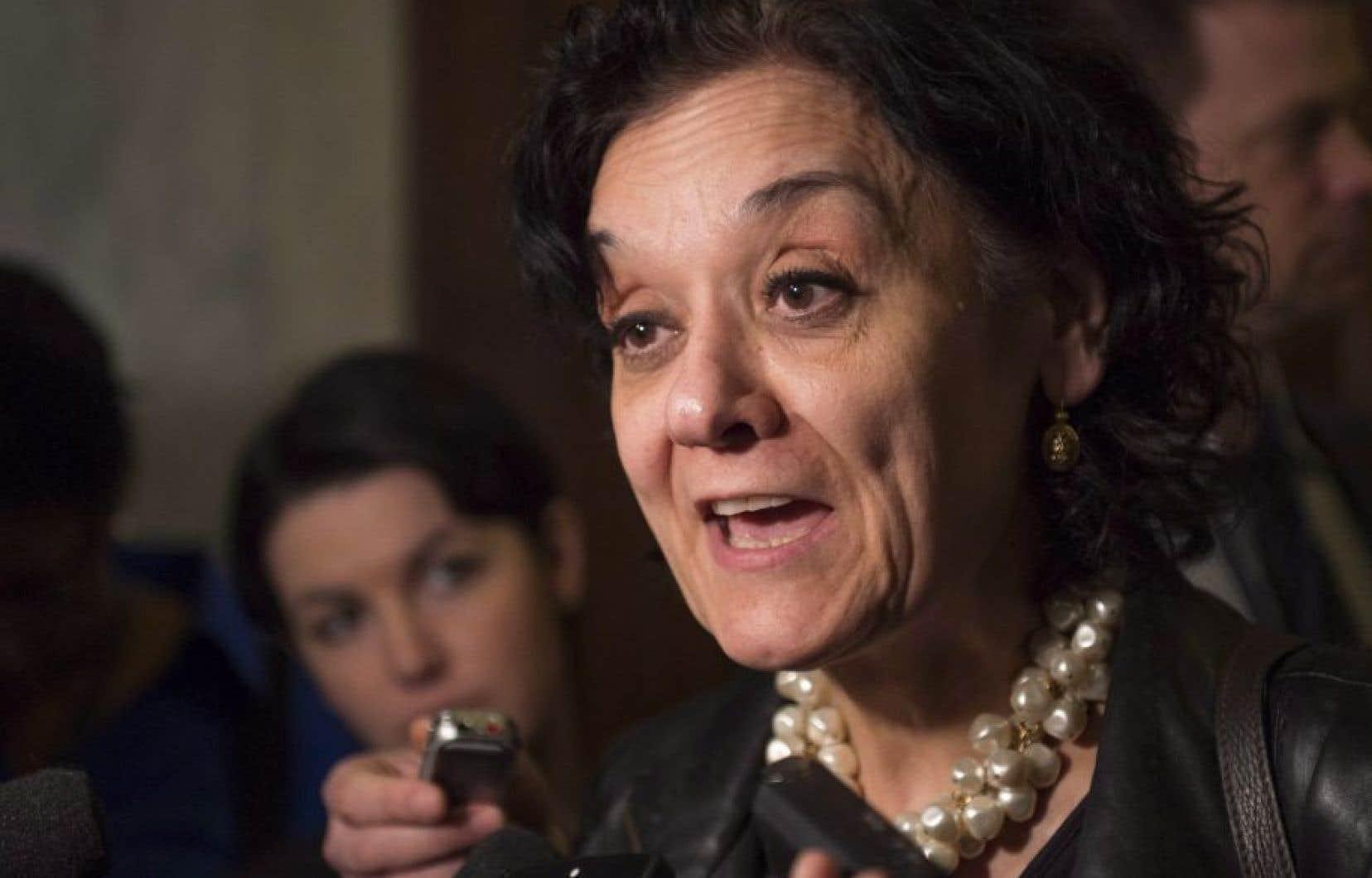 La ministre responsable de la Réforme des institutions démocratiques, Rita de Santis