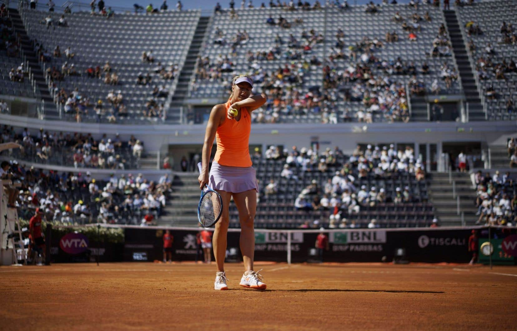 Maria Sharapova à l'Omnium d'Italie, en mai.