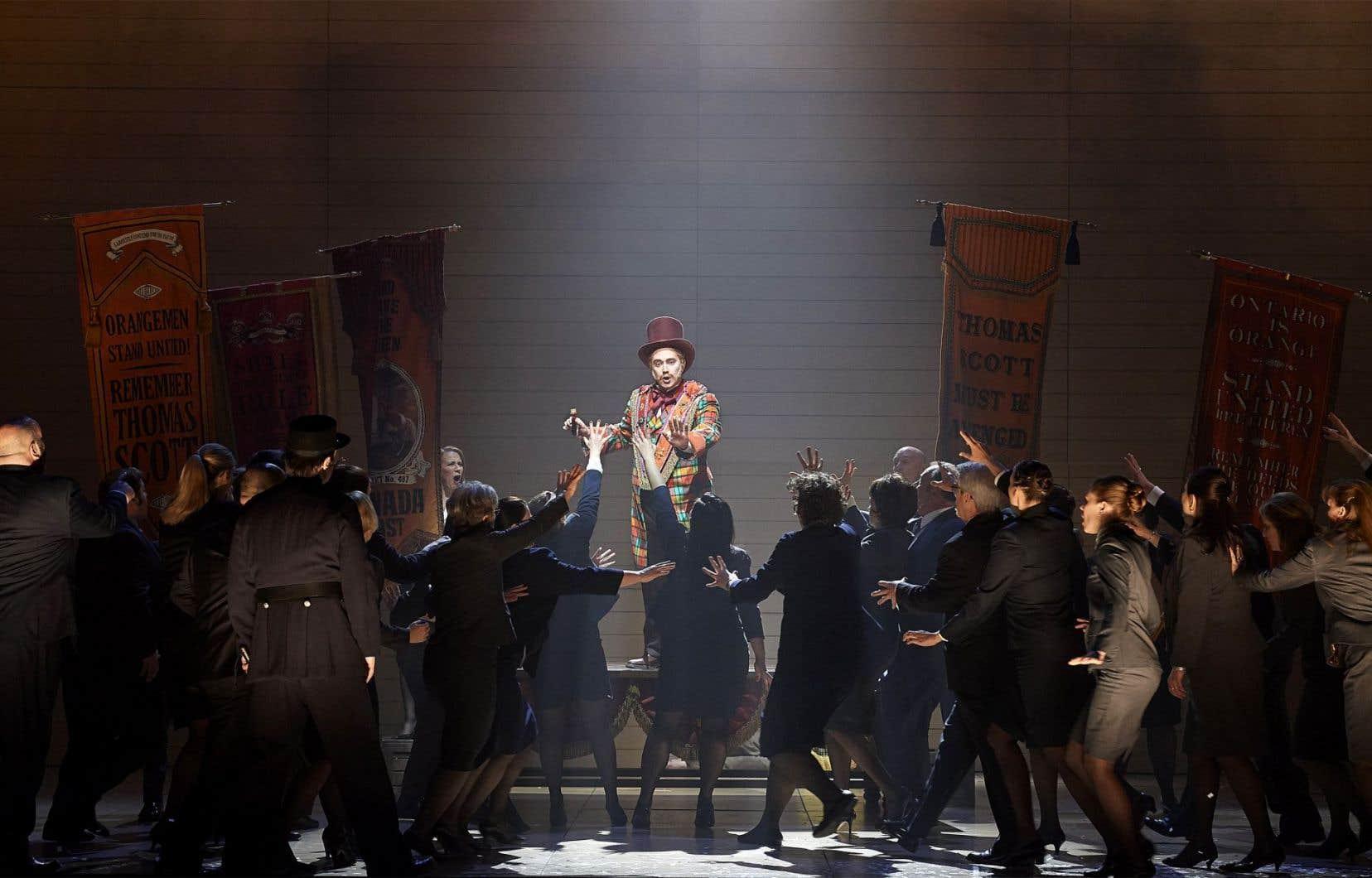 L'opéra Louis Riel sera présenté les 30juillet, 1eret 3août au Grand Théâtre de Québec.