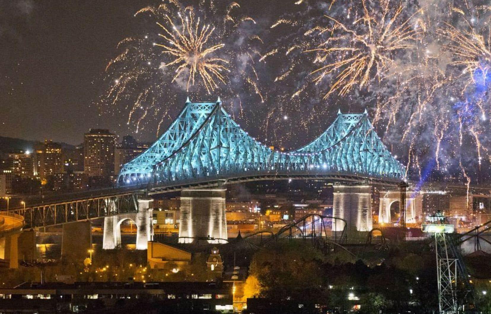 Le spectacle avait été présenté 17mai dernier devant plus de 400000 personnes réunies dans le Vieux-Montréal.