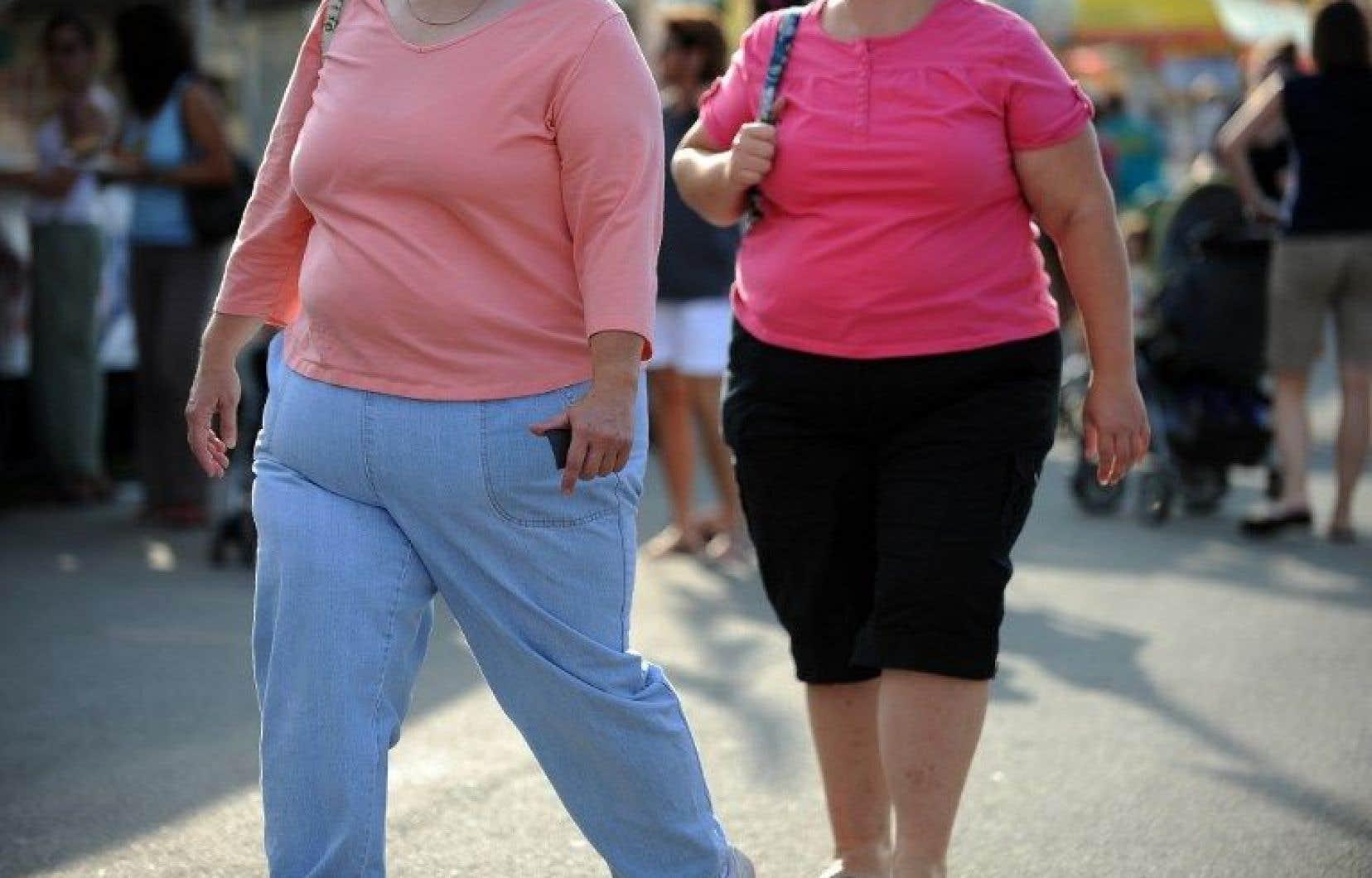 Un indice de masse corporelle (IMC) élevé, supérieur à 24,5, signale un surpoids. À partir de 30 on parle d'obésité.