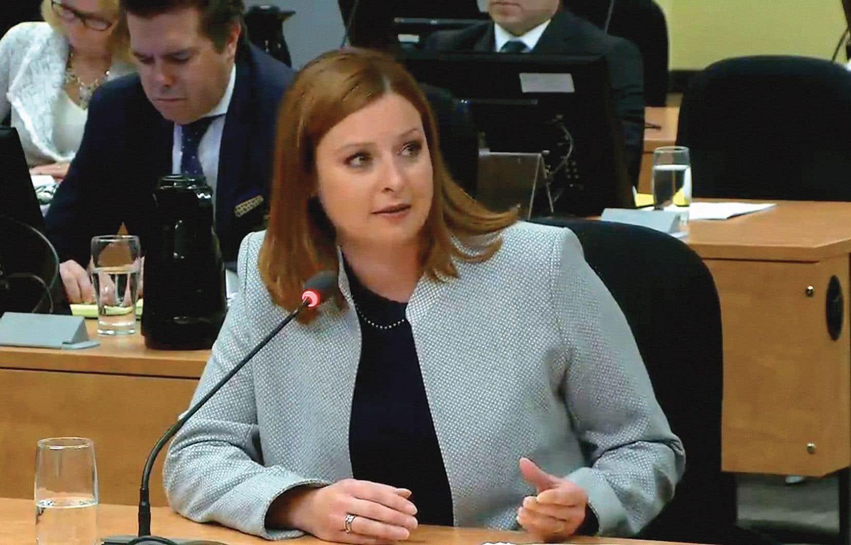 La journaliste Marie-Maude Denis a témoigné jeudi devant la commission Chamberland.