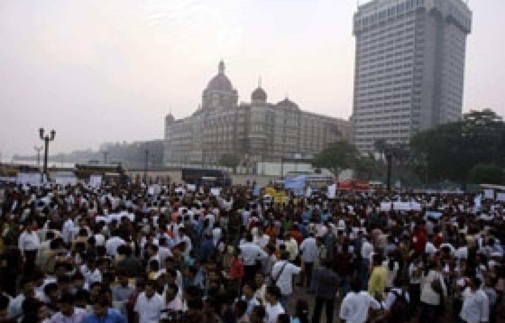 L'hôtel Taj Mahal a été le site d'une grande manifestation antiterroriste hier.