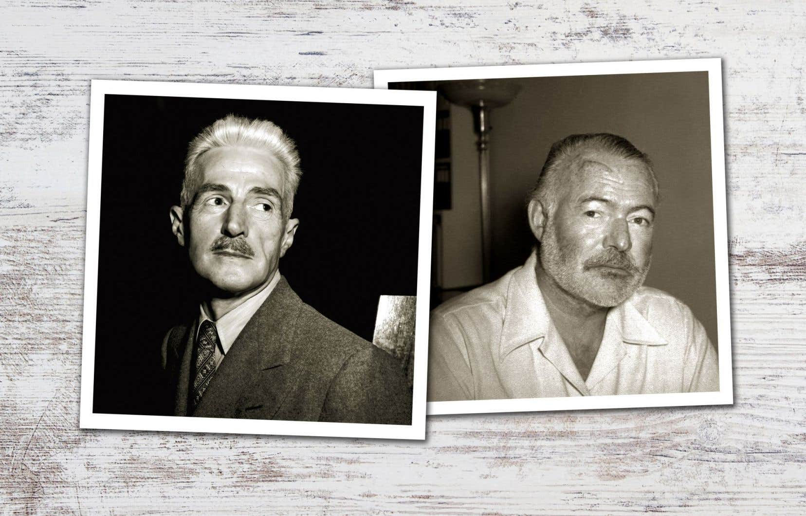 Dashiell Hammett et Ernest Hemingway