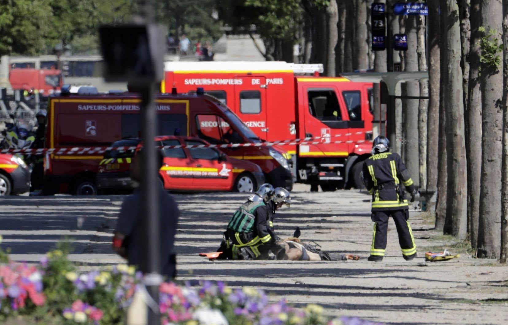 Un important dispositif sécuritaire a été déployéen plein cœur de la capitale française.