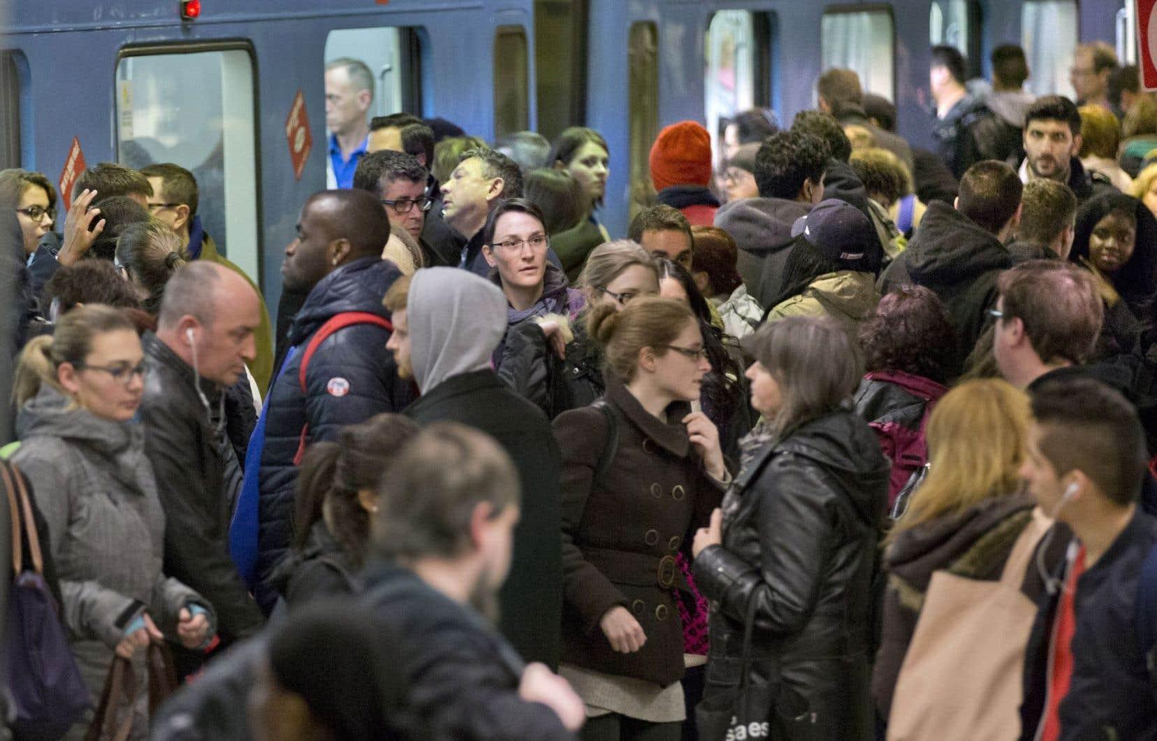 En 2016, les interruptions du service ont surtout eu lieu durant les heures de pointe.