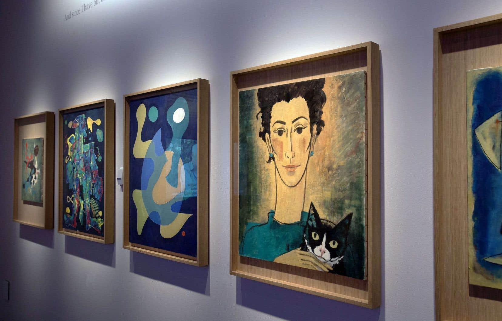 Les essais de peintre d'Hergé au début des années 1960.
