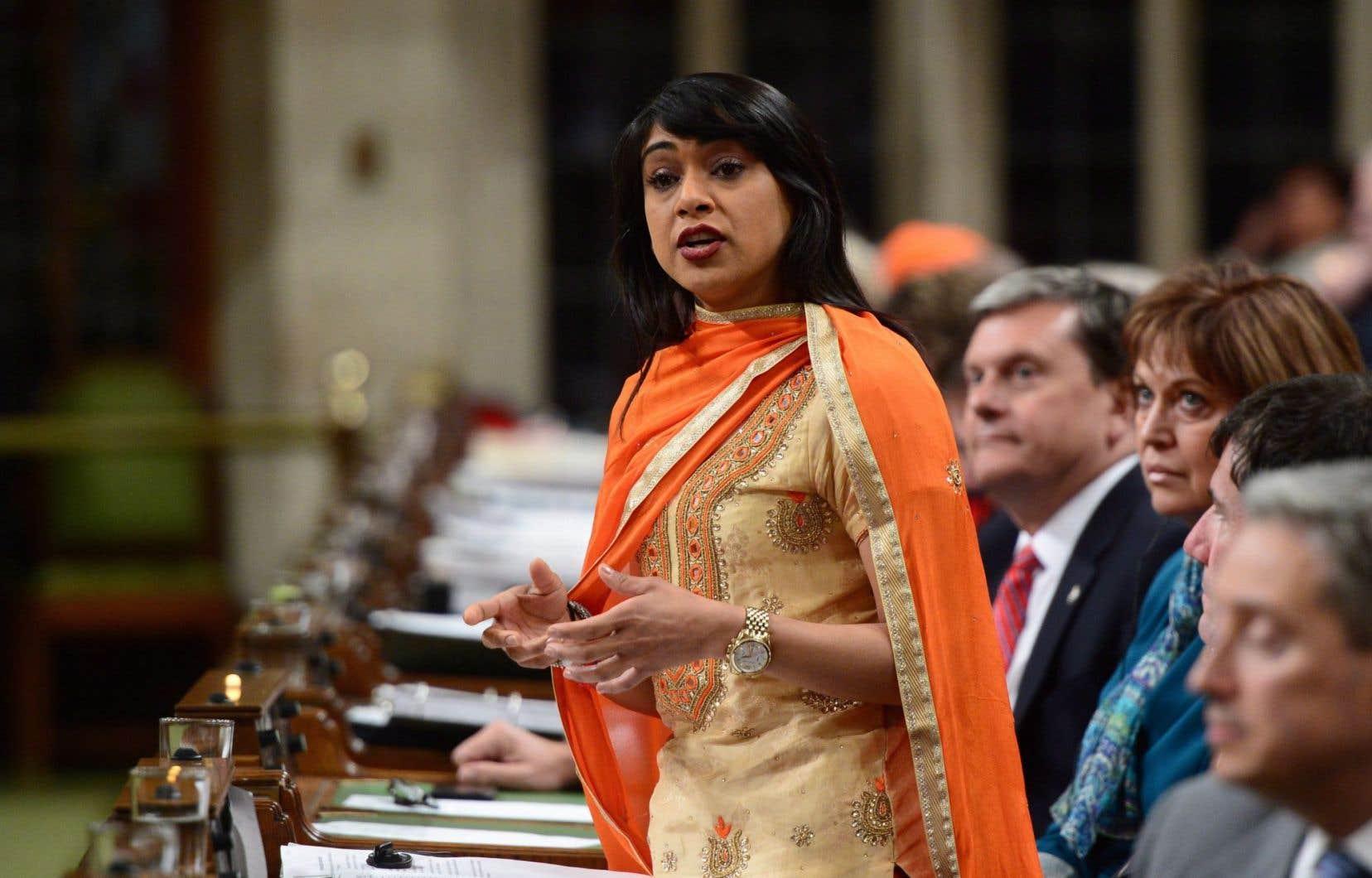 La leader en Chambre du gouvernement, Bardish Chagger