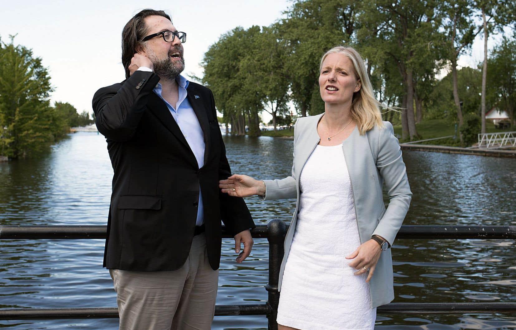 Les ministres de l'Environnement au provincial et au fédéral, David Heurtel et Catherine McKenna, ont annoncé lundi, devant le canal de Lachine, un investissement de 57,5 millions de dollars pour la deuxième phase du Plan d'action Saint-Laurent.