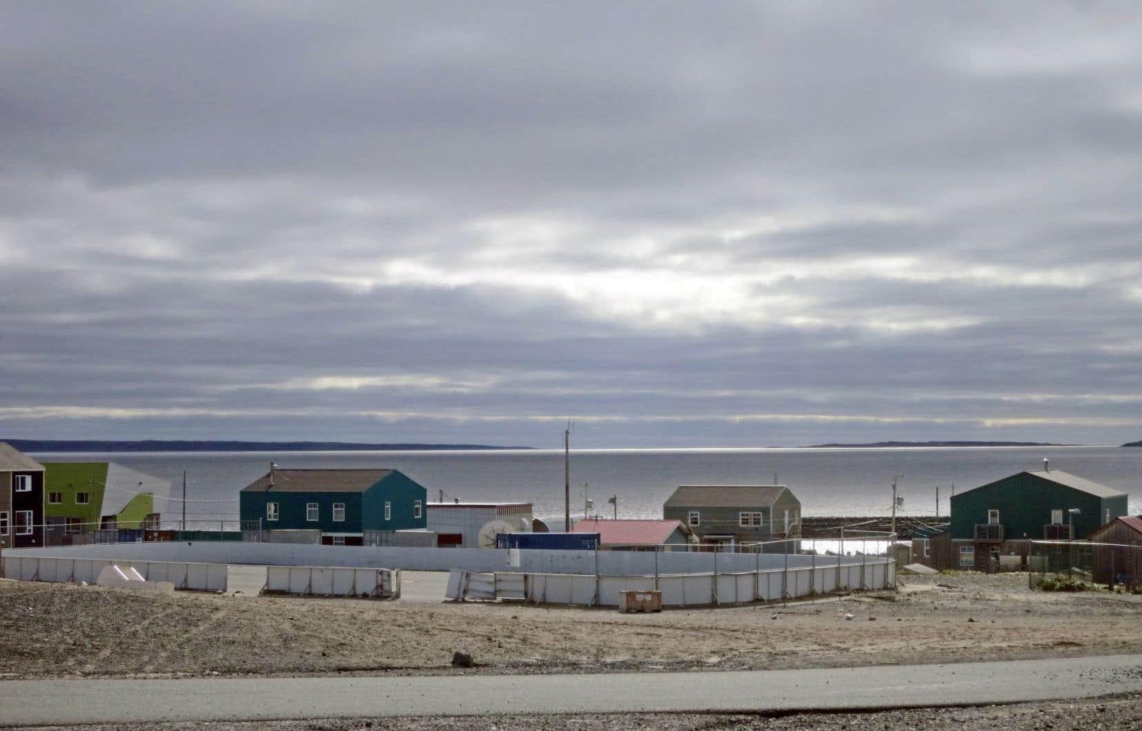 Le village d'Umiujaq, au Nunavik, dans la baie d'Hudson