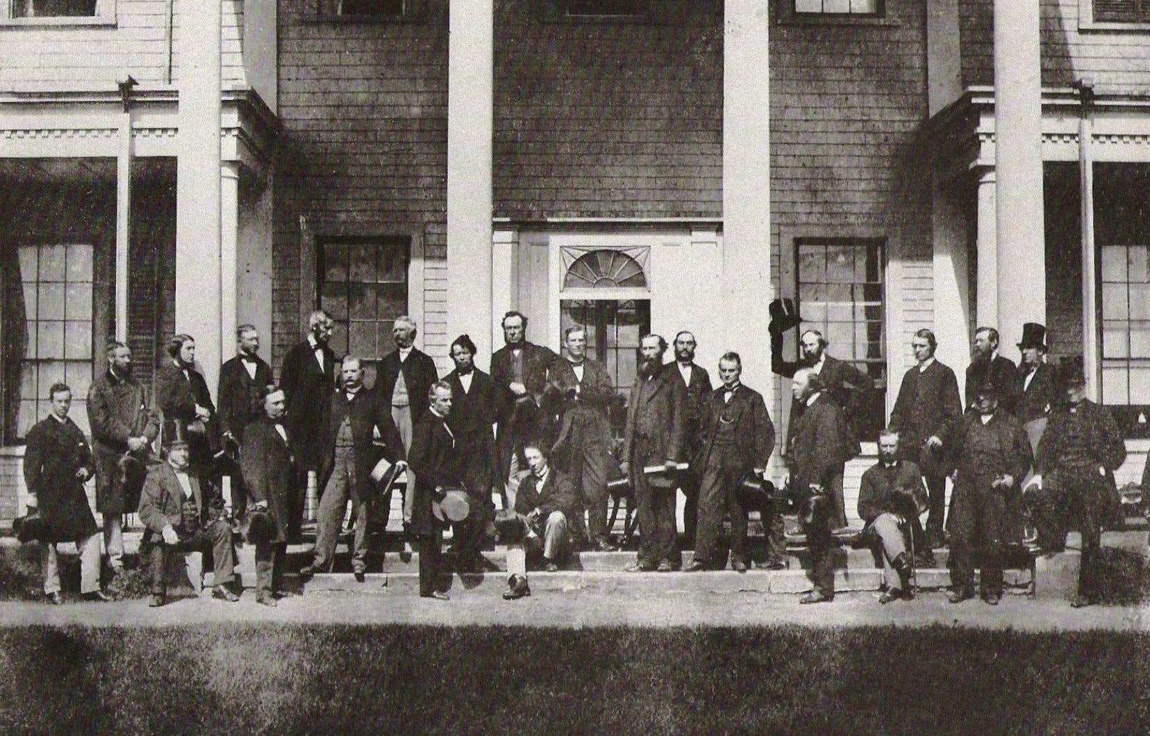 Ce sont les conférences de Charlottetown (sur la photo) et de Québec de 1864 et celle de Londres de 1866 qui ont permis au Canada de voir le jour, estime l'auteur.