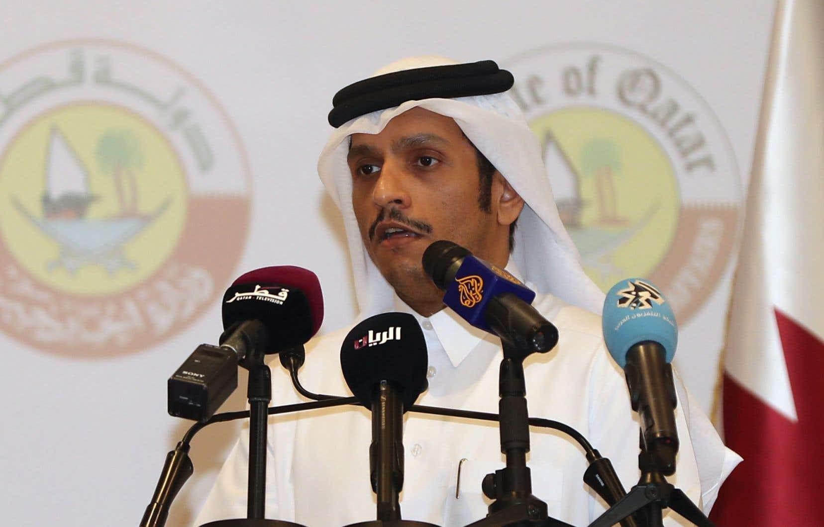 Le ministre qatari des Affaires étrangères, cheikh Mohammed ben Abderrahmane Al-Thani