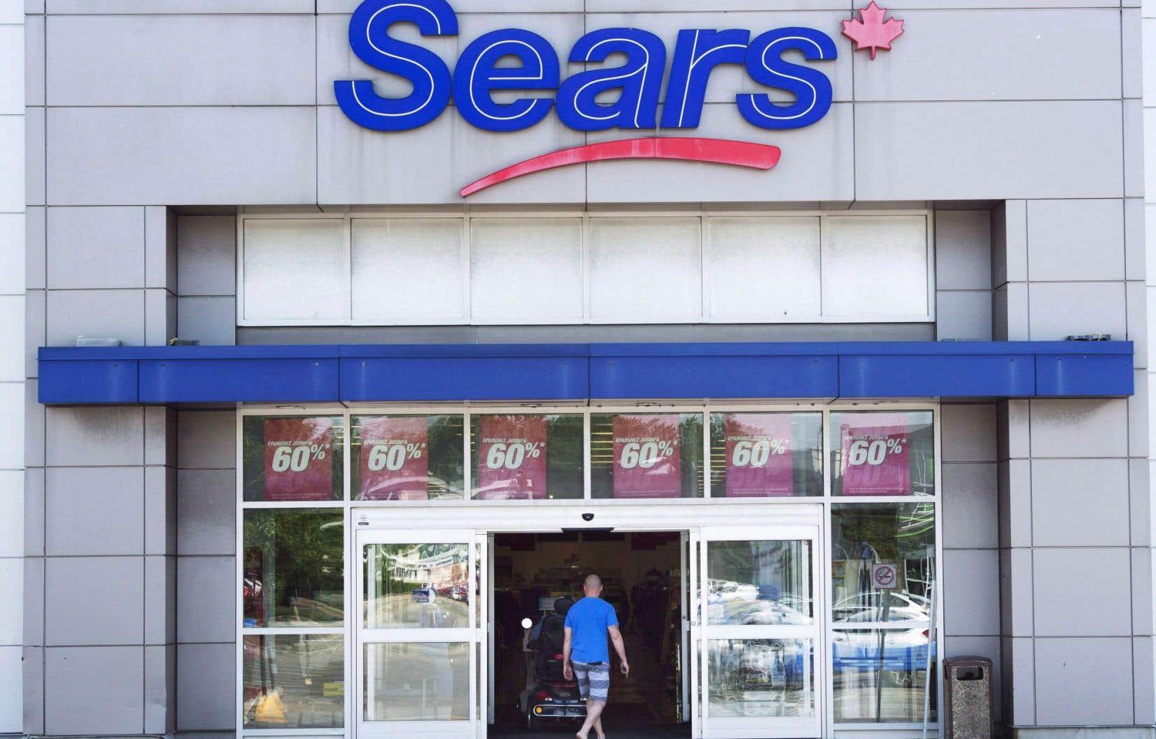 La restructuration de Sears Canada doit impliquer la fermeture de 59 magasins et la suppression de près de 2900 emplois.