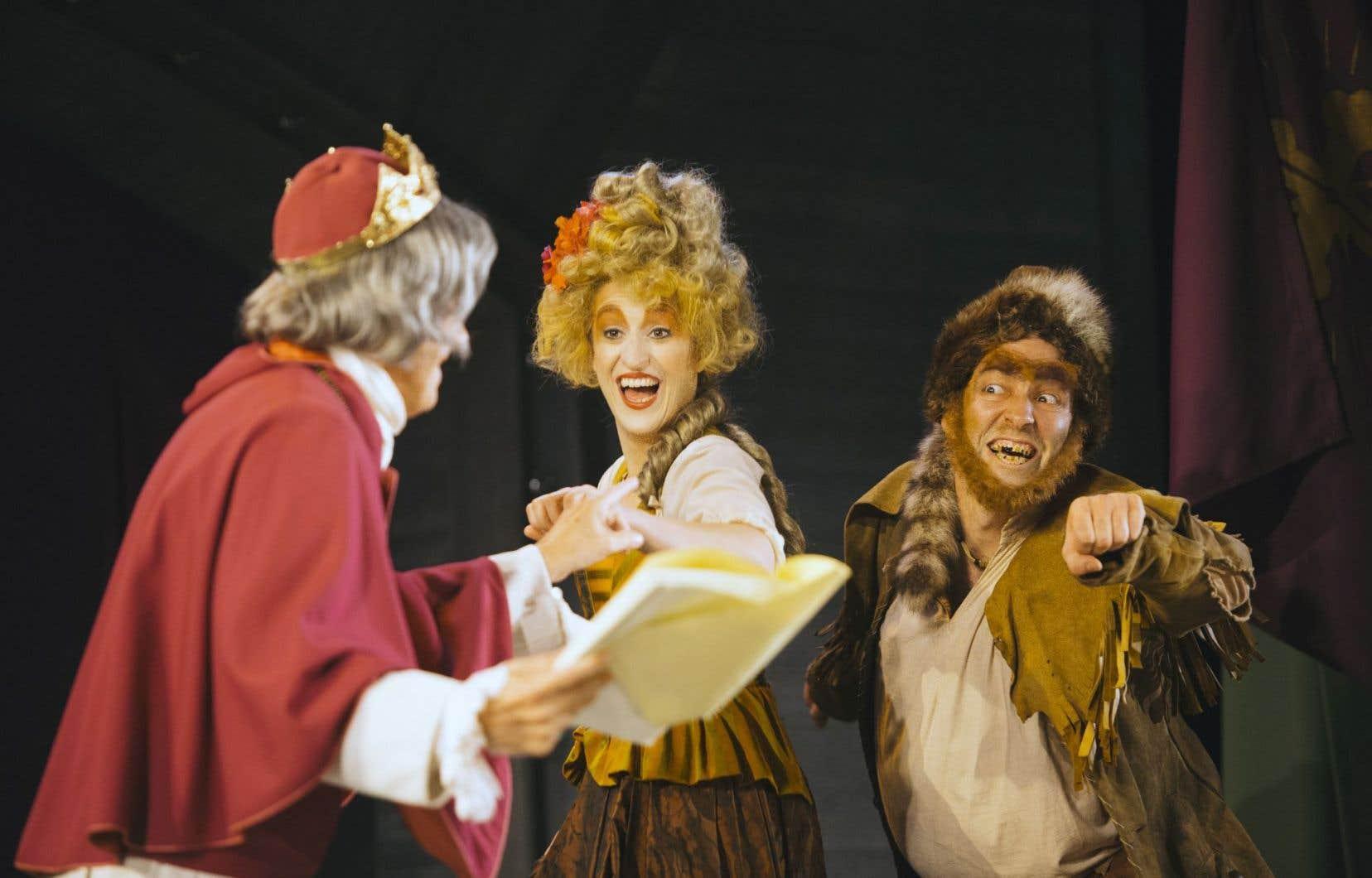 La pièce «Molière, Shakespeare et moi» exhibe tout du long son côté carton-pâte et sa jovialité un peu forcée.