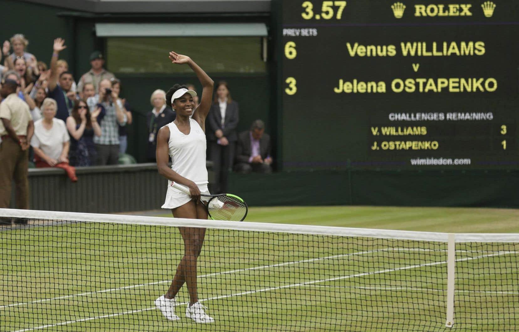 Venus Williams a disputé 21 demi-finales lors de tournois majeurs.