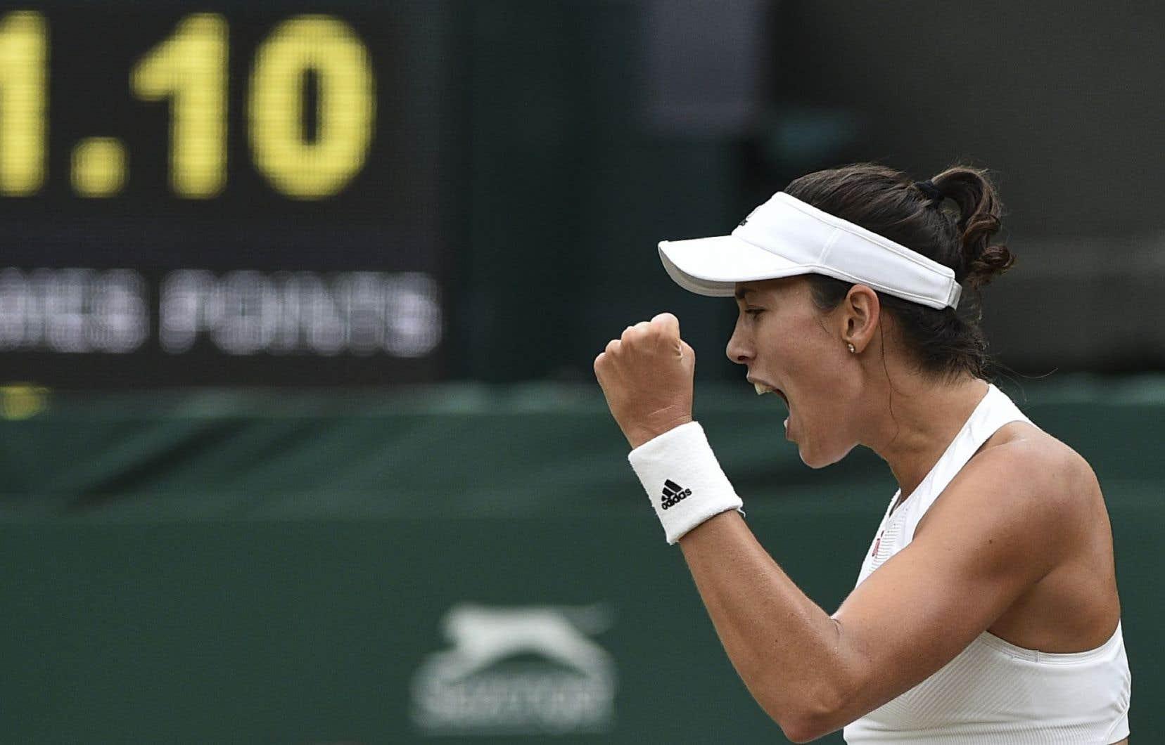 C'est le quatrième trophée remportée par la jeune Espagnole, 23 ans, le deuxième en Grand Chelem, après Roland-Garros 2016.