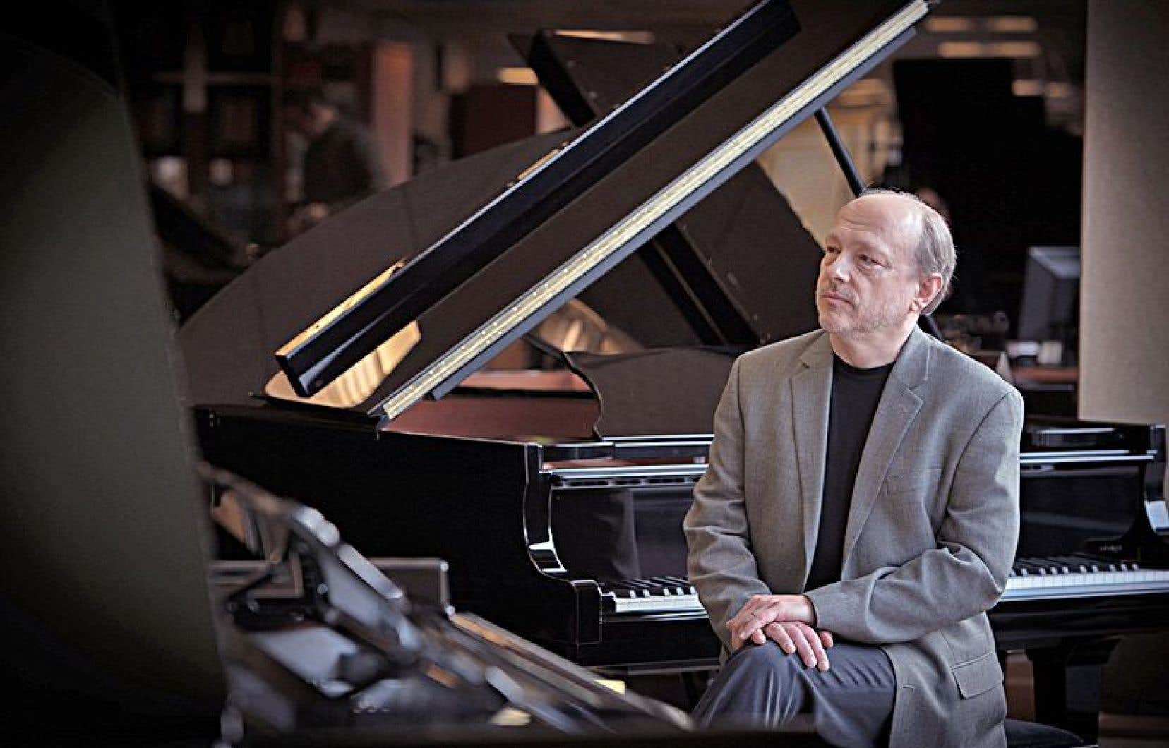 Le pianiste Marc-André Hamelin a partagé la scène samedi soir à Orford Musique avec le quatuor berlinois Kuss.
