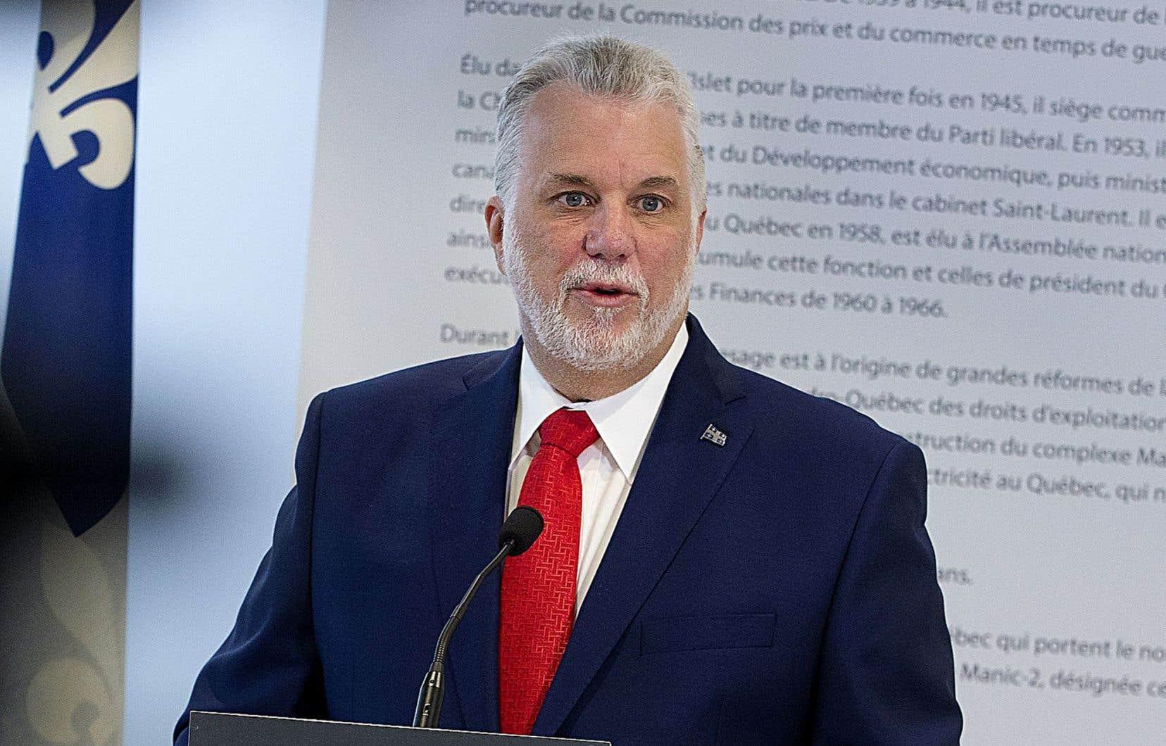 <p>Le premier ministre québécois, Philippe Couillard</p>