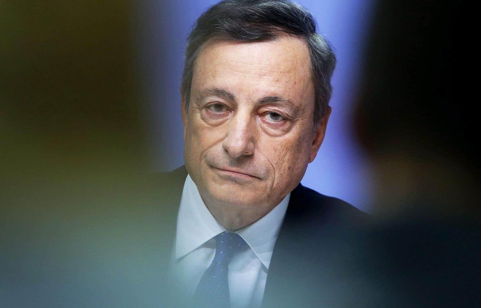 «L'inflation n'est pas au niveau où nous voulons qu'elle soit, ou là où elle devrait être», a déclaré le président de la BCE, Mario Draghi.