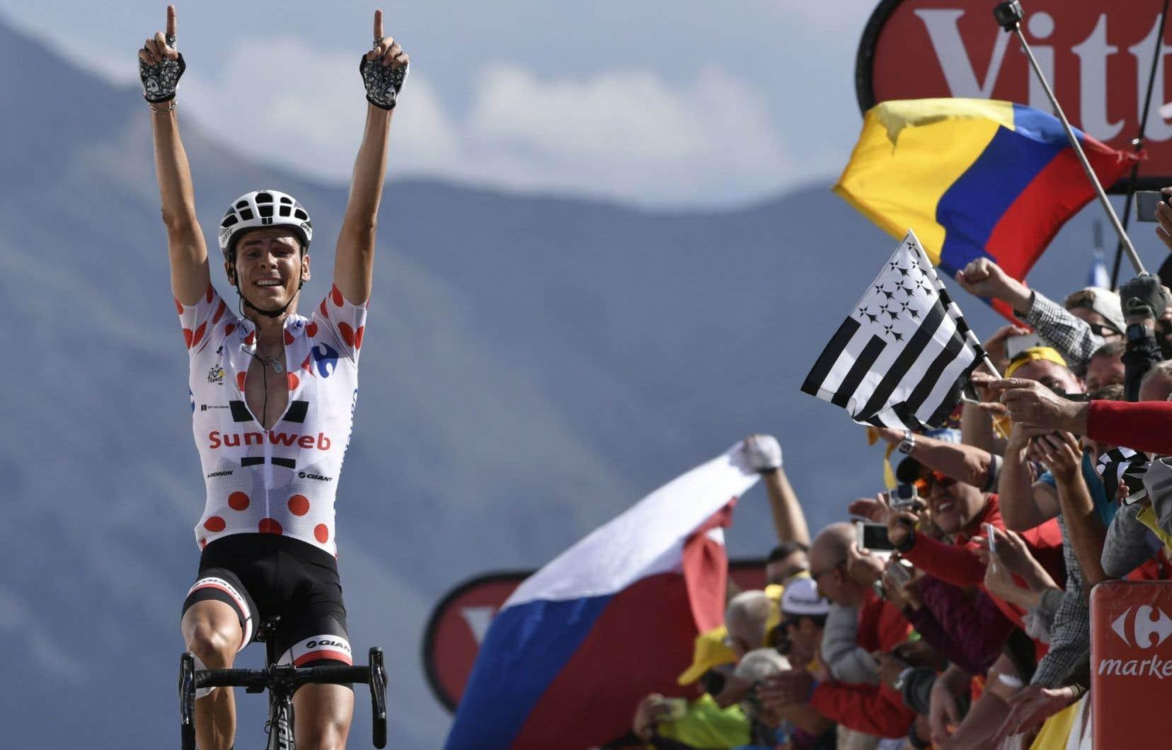 À l'altitude de 2360 mètres, Warren Barguil a remporté un succès de prestige, son deuxième dans le Tour après celui de Foix acquis le 14 juillet.