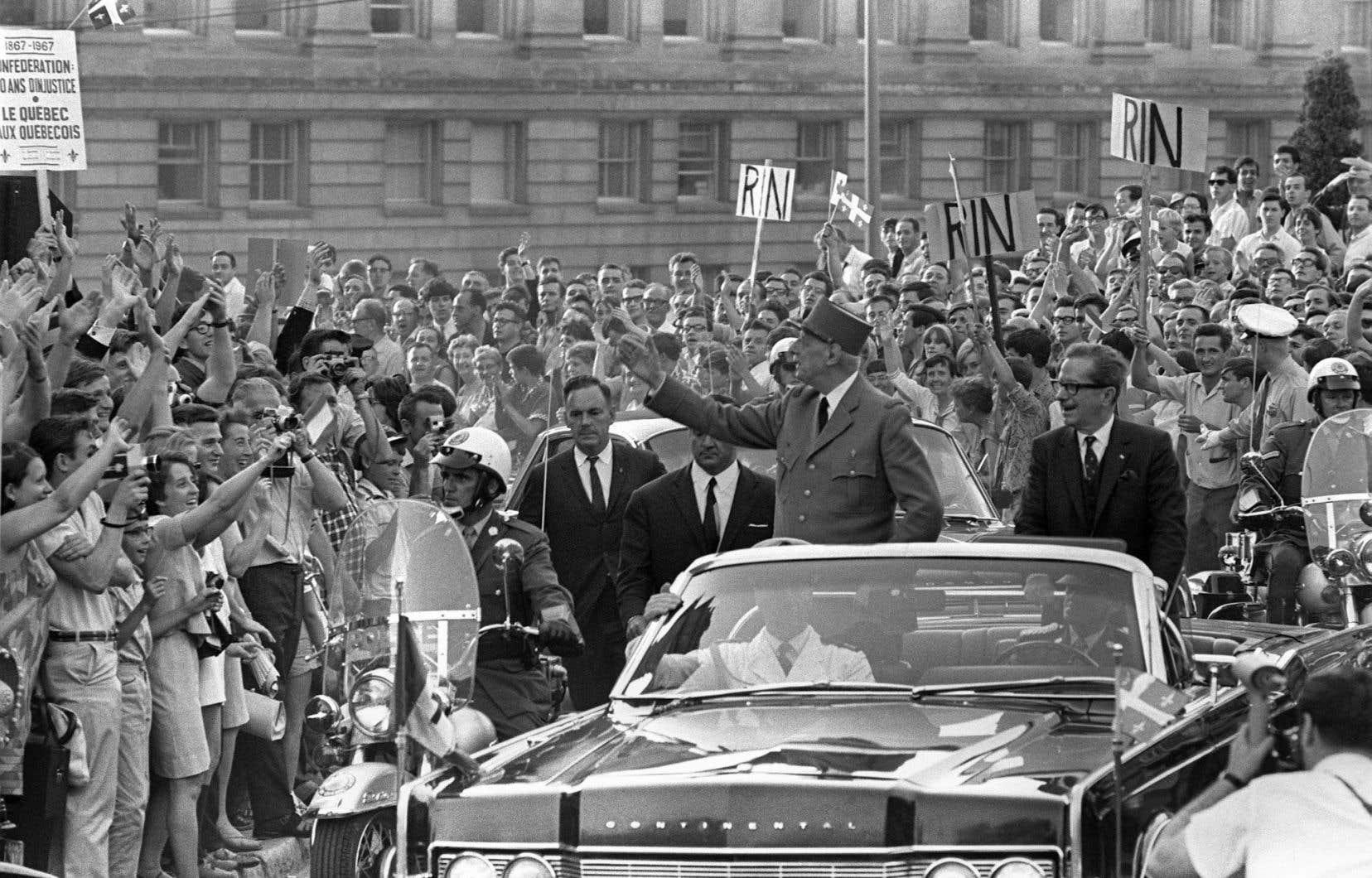 La visite du général de Gaulle au Québec en 1967 a mis, pour une des toutes premières fois de son histoire, la province sur la carte du monde.