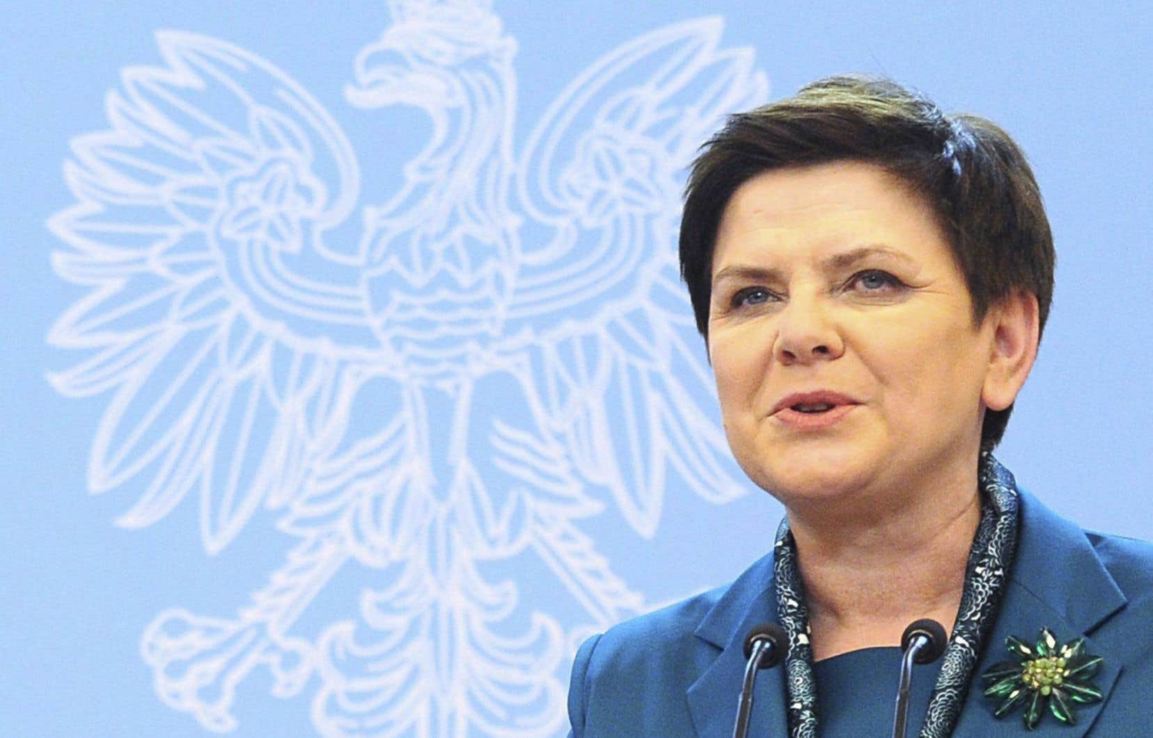 La première ministre de la Pologne, Beata Szydlo