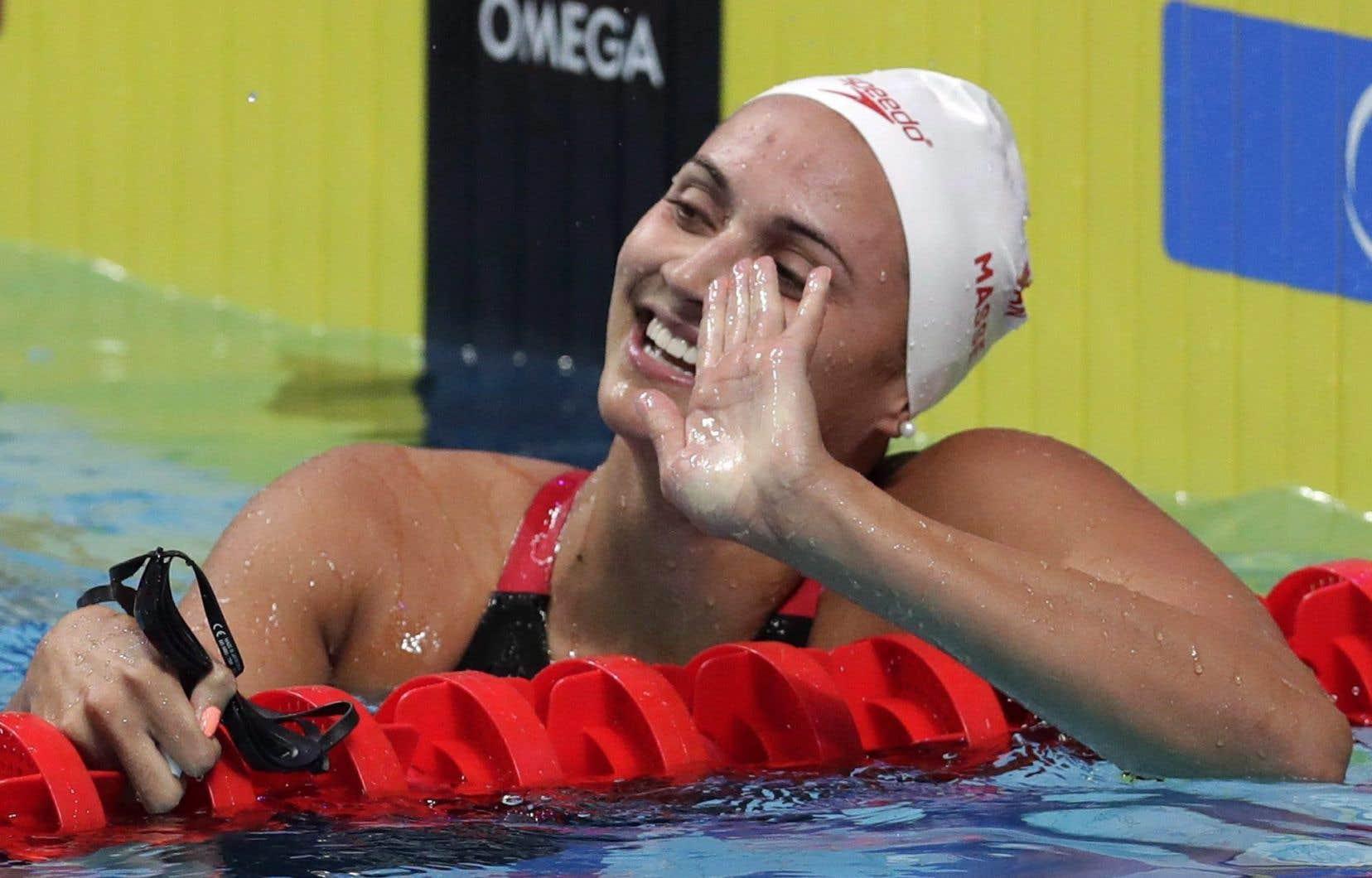 La Canadienne Kylie Masse a battu le record du monde du 100 m dos en 58,10 sec pour remporter la finale des Mondiaux-2017.