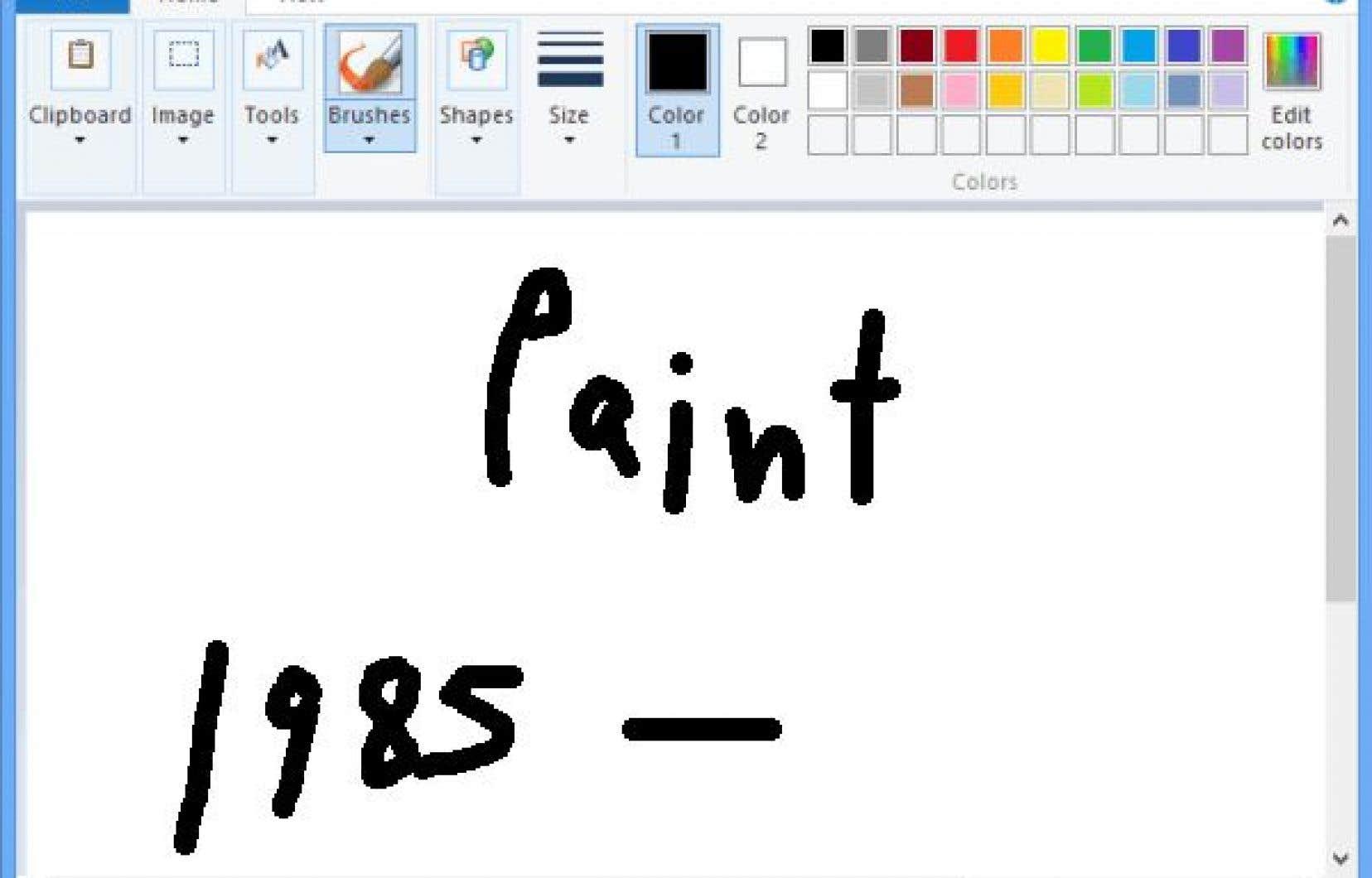 Face à l'émotion provoquée par l'annonce de l'arrêt programmé de Paint, né en 1985 en même temps que Windows, Microsoft a précisé qu'il resterait disponible.