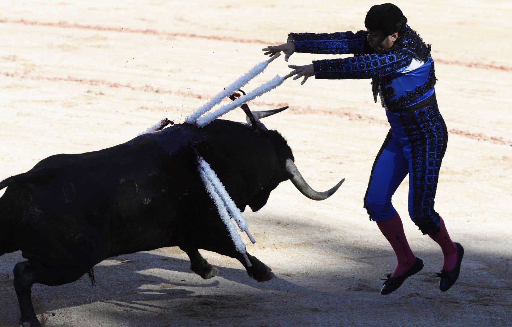 Un torero à Pampelune, en Espagne, le 12juillet