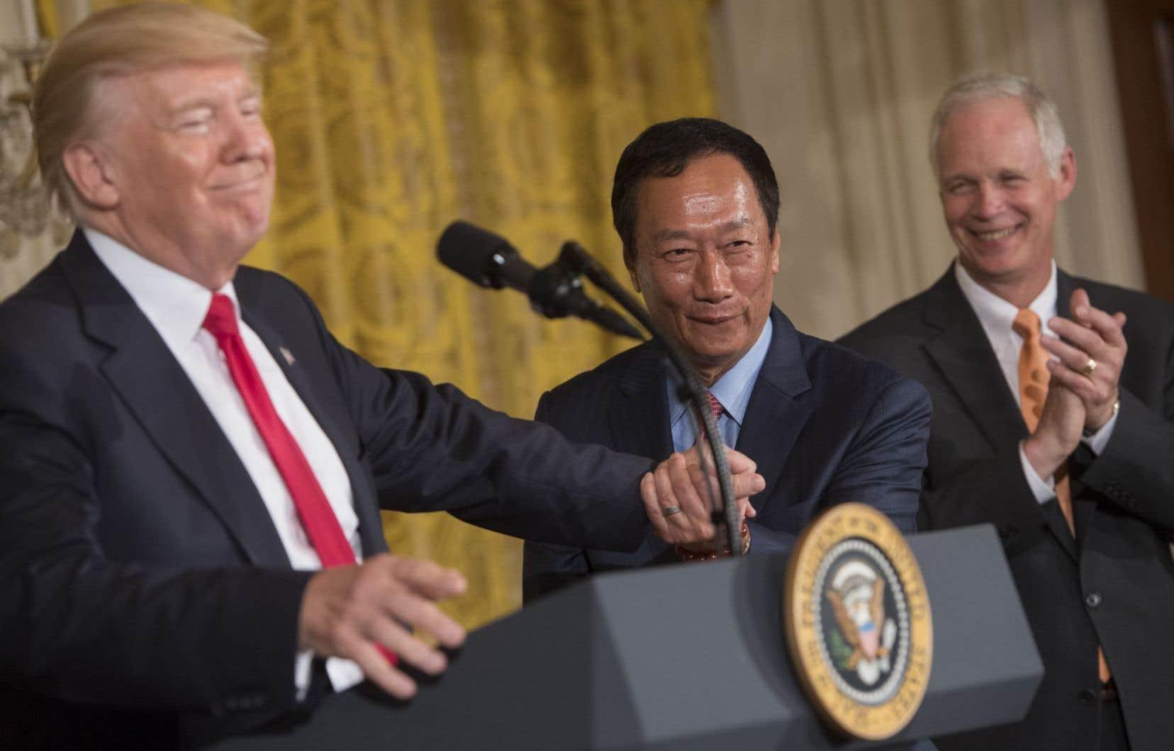 La Maison-Blanche a tenu à souligner le rôle personnel joué par le président Donald Trump, qui vante souvent sa capacité à conclure un «deal».