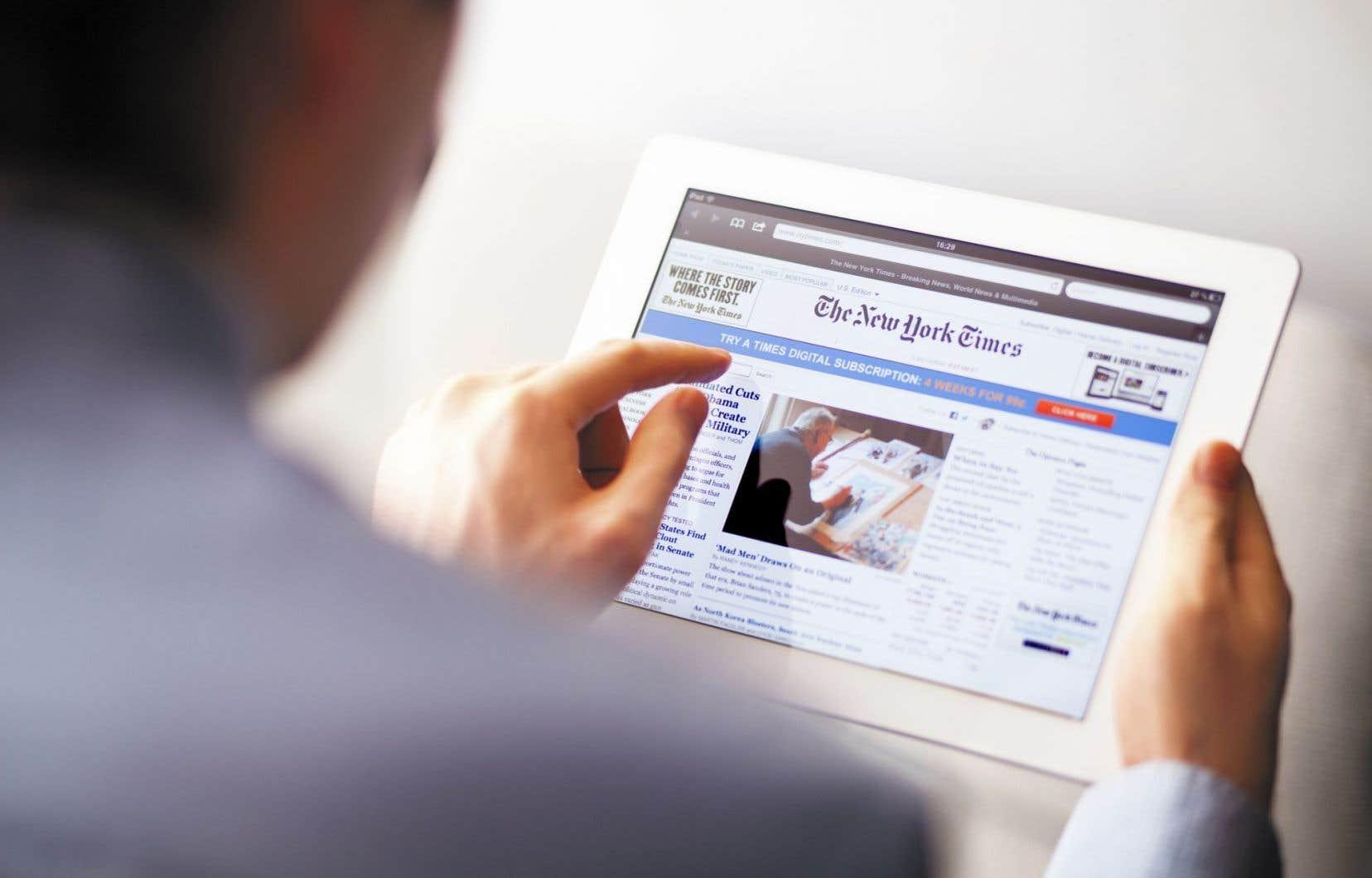 Le «New York Times» avait gagné, en net, 296000 abonnés en ligne sur les trois derniers mois de 2016 et 348000 au premier trimestre 2017.