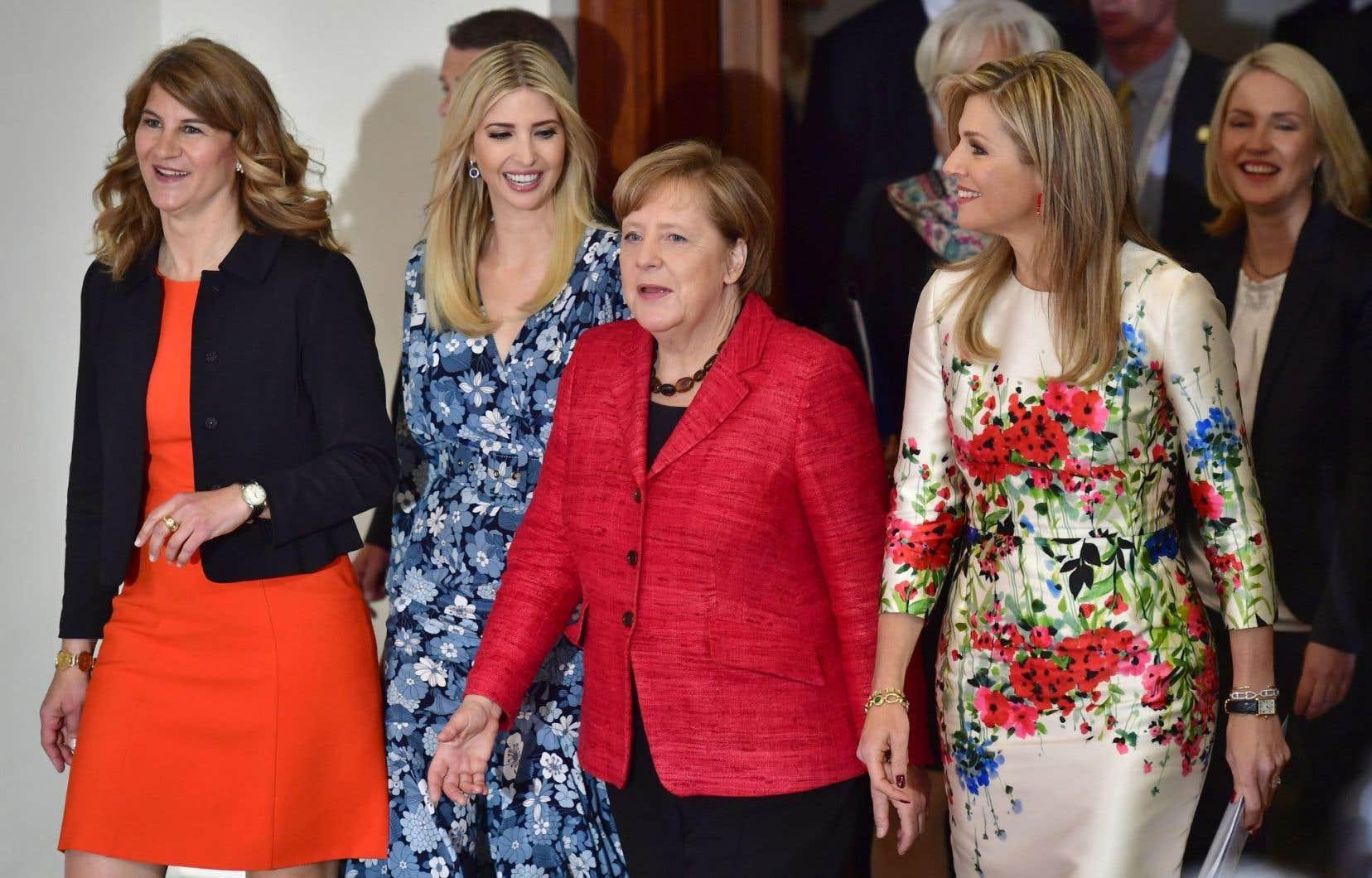 La fille et conseillère du président américain, Ivanka Trump, et la chancelière allemande, Angela Merkel, participaient à un sommet portant sur l'«empowerment» des femmes en marge du G20, en avril.