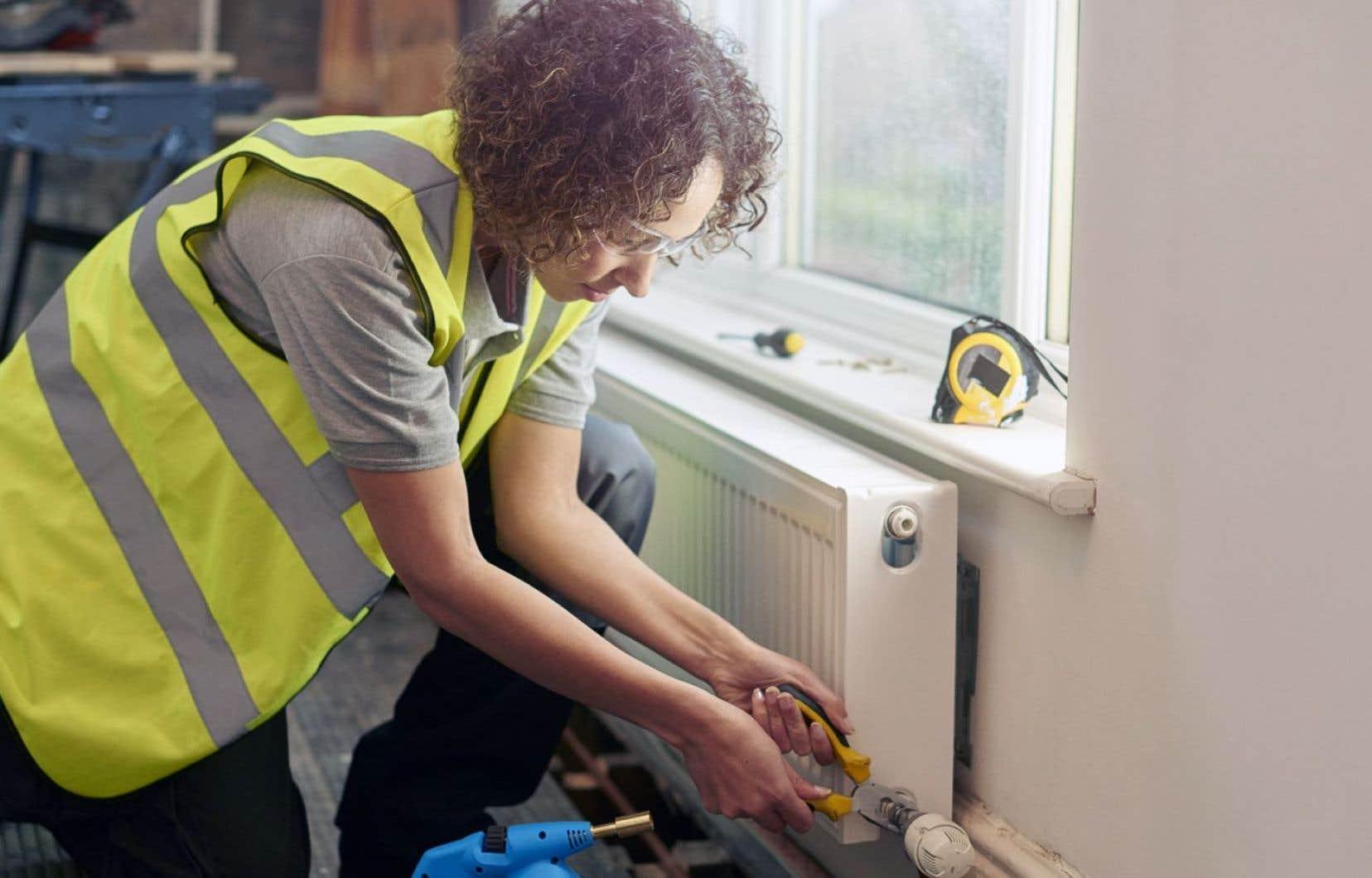 À l'heure actuelle, les femmes comptent pour 1,62 % de la main-d'œuvre dans le secteur de la construction.