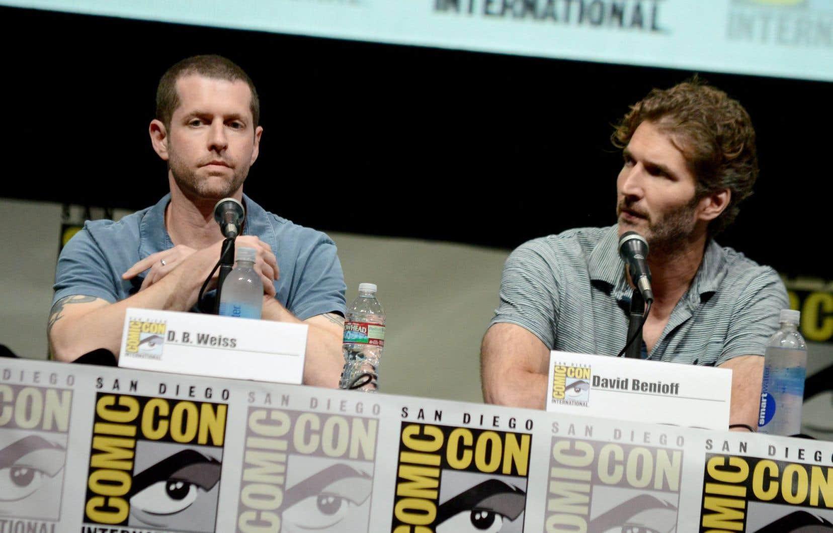 Les créateurs de la série «Game of Thrones»,D.B. Weiss etDavid Benioff