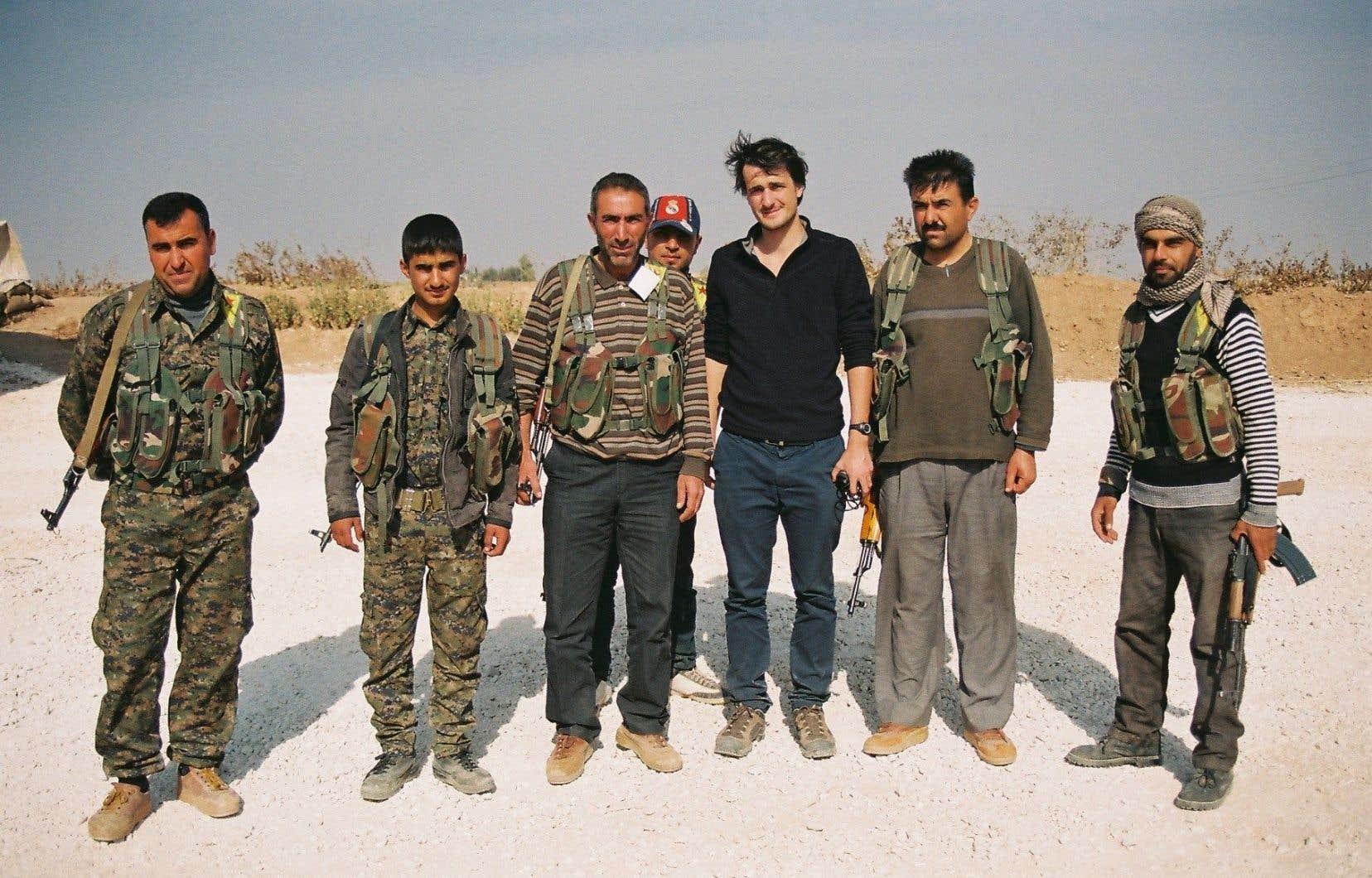 Loup Bureau à Serekanyé, Rojava, avec les combattants kurdes, le 4 décembre 2013