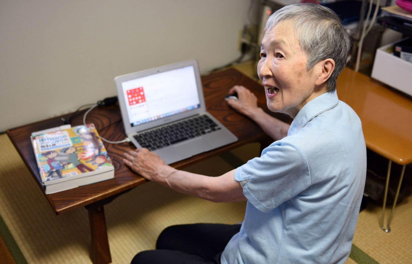 Masako Wakamiya est la créatrice d'une application pour iPhone consultée par 860000 personnes et téléchargée 42000 fois.