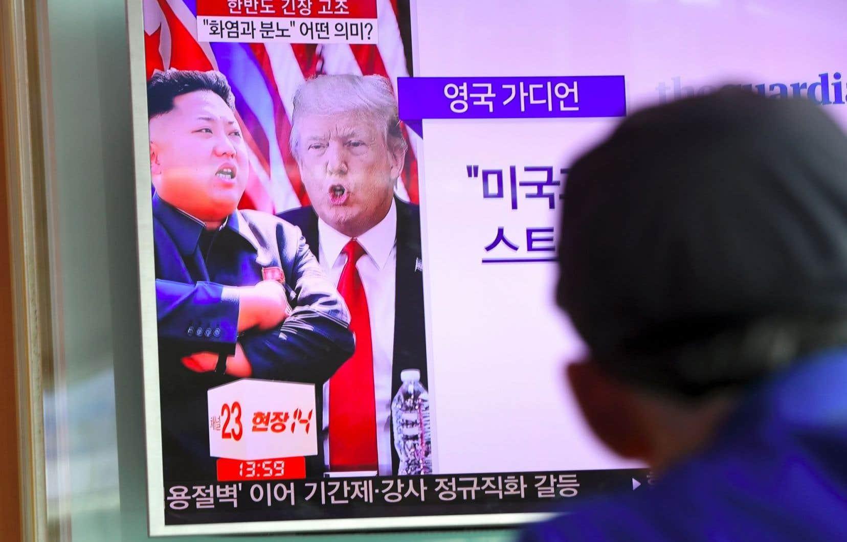 Le président Donald Trumpa promis «feu» et «colère» à Pyongyang, qui vient de mener deux tests réussis de missiles balistiques intercontinentaux (ICBM).