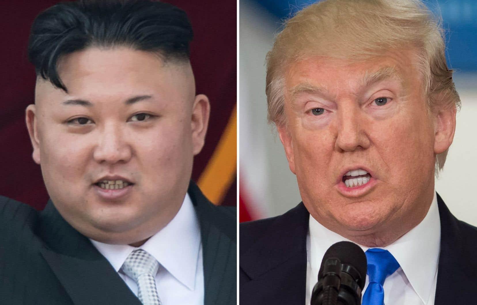 Ledirigeant nord-coréen Kim Jong-Un et le président américain, Donald Trump