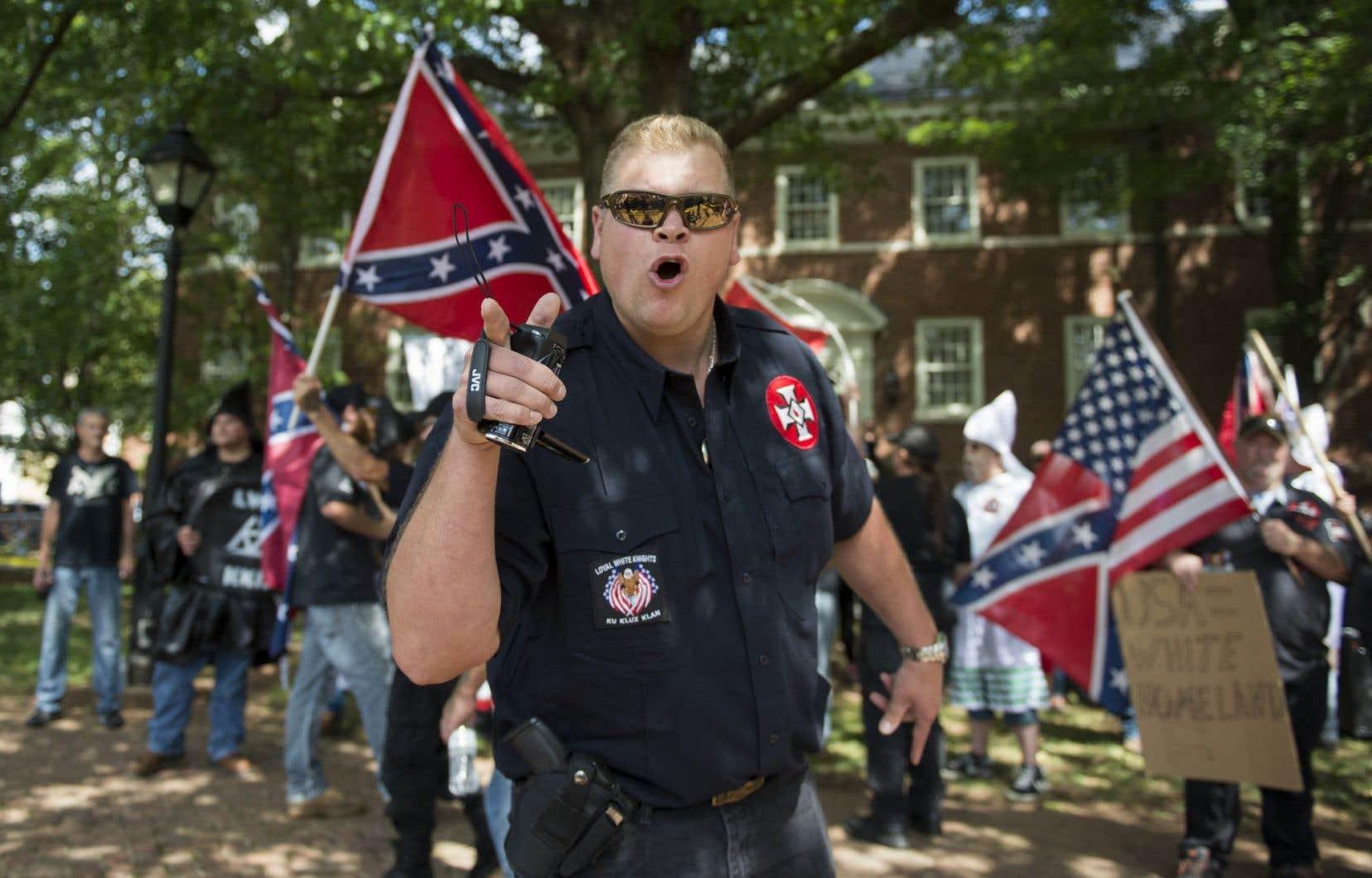 Le 8 juillet dernier, quelques dizaines de membres du Ku Klux Klan s'étaient déjà rassemblés à Charlottesville, en Virginie.