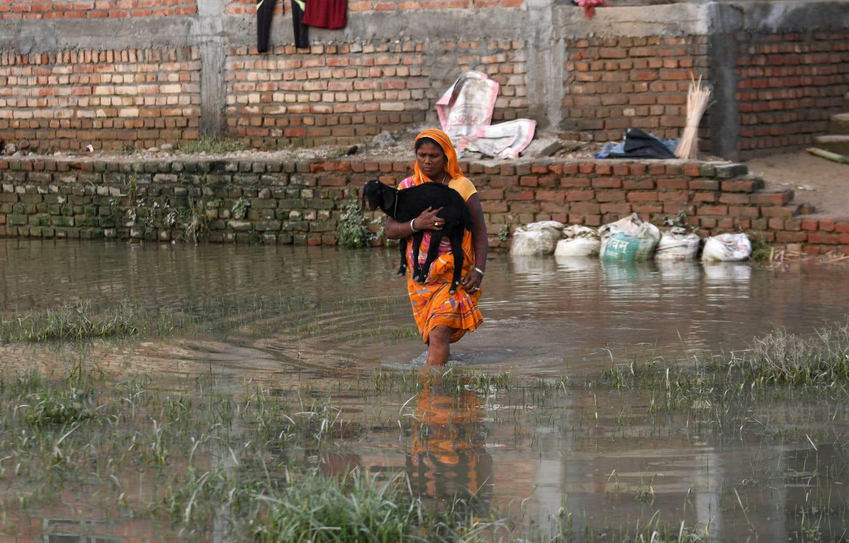 Dans le district de Saptari, au sud du Népal, de telles inondations surviennent chaque année.